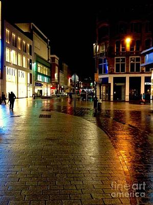 Photograph - The City Centre At Night 2 by Joan-Violet Stretch