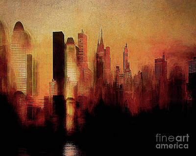Digital Art - The City by Edmund Nagele