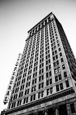 Photograph - The City Federal Building In Monochrome by Shelby Young