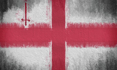 Digital Art - The City Flag Of London by JC Findley