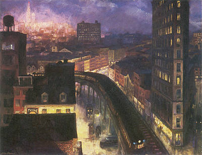 Photograph - The City From Greenwich Village by John Sloan