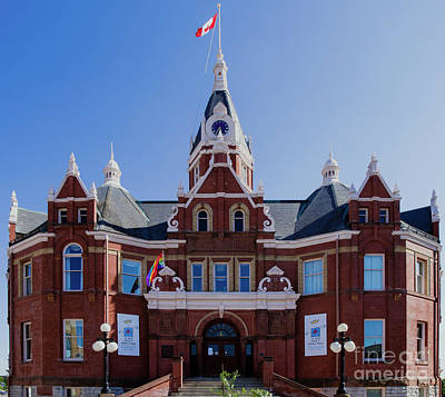 Stratford City Photograph - The City Hall Of Stratford Ontario Canada by Kenneth Lempert