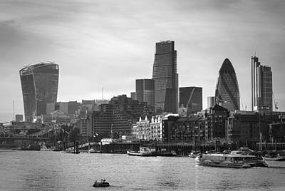 Photograph - The City In Mono by Stuart Gennery