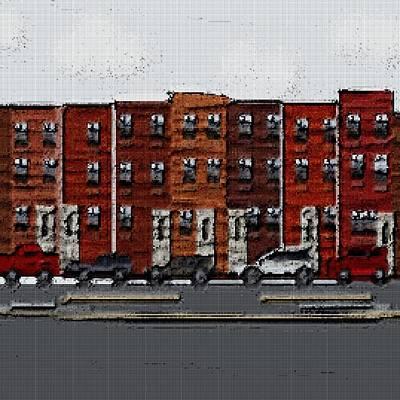 Tetris Block Mixed Media - The City by Jacquin