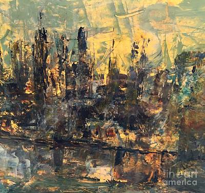 Painting - The City by Nancy Kane Chapman