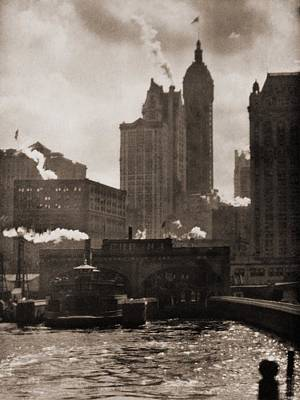 The City Of Ambition 1910, By Alfred Art Print by Everett