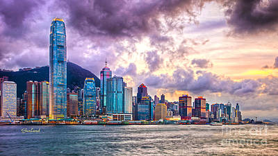 Hong Kong Mixed Media - The City Of Freedom And Beauty by Garland Johnson
