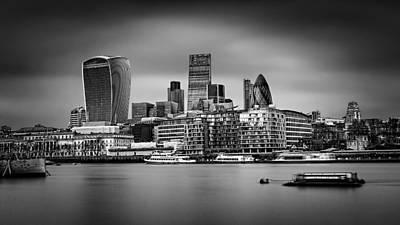 The City Of London Mono Art Print