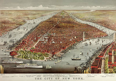 The City Of New York Art Print by American School