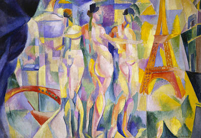 Abstract Nude Painting - The City Of Paris by Robert Delaunay