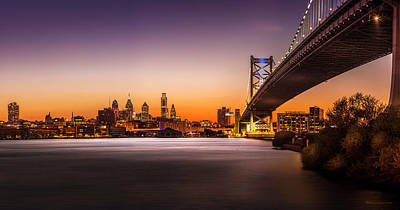Scenic River Photograph - The City Of Philadelphia by Marvin Spates