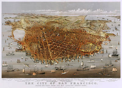The City Of San Francisco 1878 Art Print by Mountain Dreams