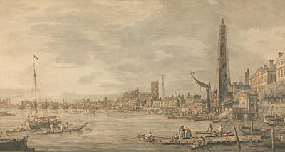 Painting - The City Of Westminster From Near The York Water Gate by Canaletto