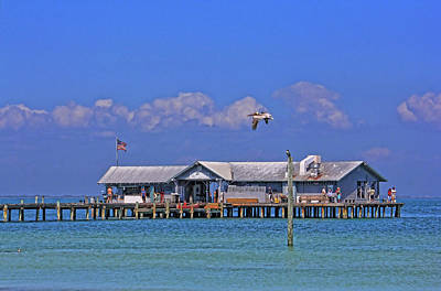 Photograph - The City Pier - A Local Landmark by HH Photography of Florida