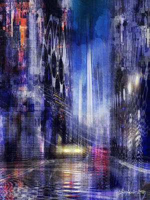 Painting - The City Rhythm IIi by Stefano Popovski