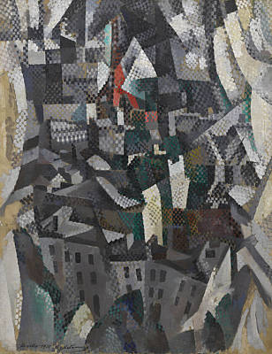 Geometric Painting - The City by Robert Delaunay