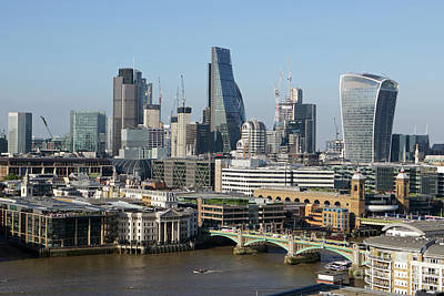 Photograph - The City Skyline London by Julia Gavin