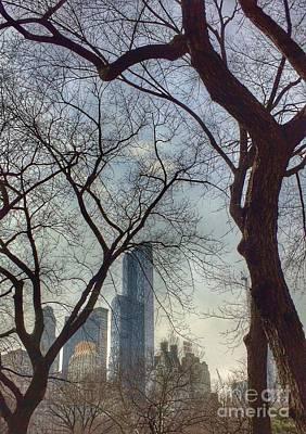 The City Through The Trees Art Print