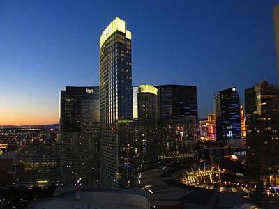 Twilight Over The Aria, Las Vegas Art Print