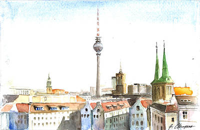 The Cityscape Of Berlin Original by Georgi Charaka