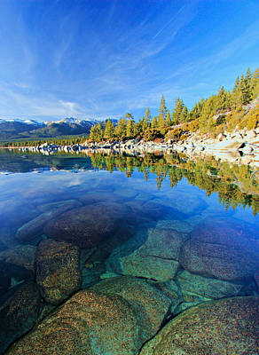 Photograph - The Clarity Of Lake Tahoe by Sean Sarsfield