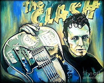 The Clash Joe Strummer Art Print by Amy Belonio