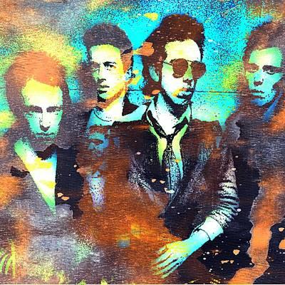 Joe Strummer Painting - The Clash by Otis Porritt