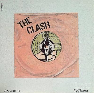 The Clash - White Man In Pink Original by Richard John Holden RA