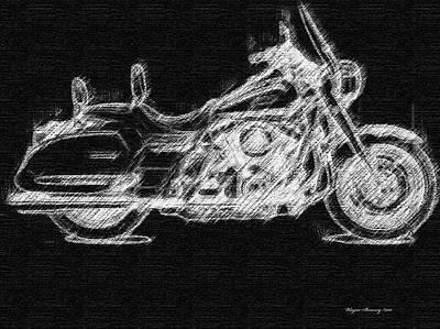 Harley Davidson Art Painting - The Classic Harley by Wayne Bonney