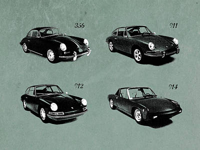 Classic Porsche 356 Photograph - The Classic Porsche Collection by Mark Rogan