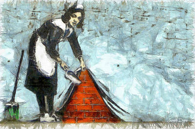 Hiding Painting - The Cleaner - Pa by Leonardo Digenio