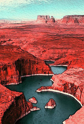 Painting - The Clear Waters Of Lake Powell by Andrea Mazzocchetti