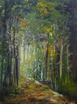 Painting - The clearest way into the Universe is through a forest wilderness by Yossi Sigura