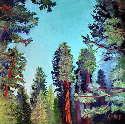 Sequoia National Park Painting - The Clearing by Cedar Lee