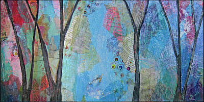 Tree-lined Painting - The Clearing I by Shadia Derbyshire