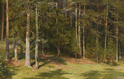Clearing Painting - The Clearing by Ivan Shishkin