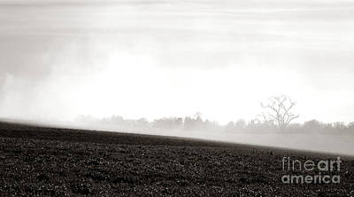 Bucolic Scenes Photograph - The Clearing Smoke by Olivier Le Queinec