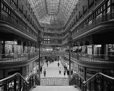 Black Commerce Photograph - The Cleveland Arcade 1966 by Mountain Dreams