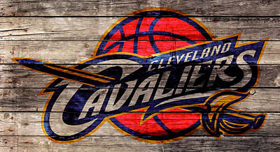 Autumn Landscape Mixed Media - The Cleveland Cavaliers 2w by Brian Reaves