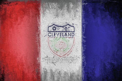 Digital Art - The Cleveland City Flag by JC Findley