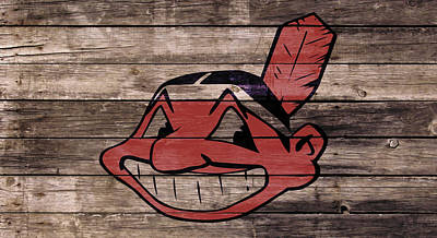 Cleveland Indians Mixed Media - The Cleveland Indians 1w by Brian Reaves