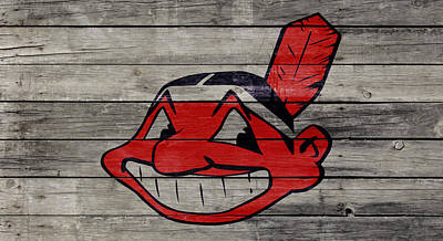 Autumn Landscape Mixed Media - The Cleveland Indians 2w by Brian Reaves