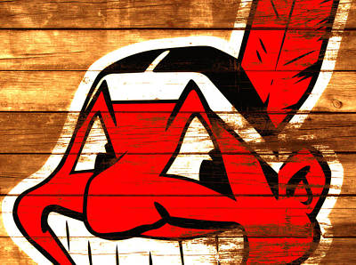 Larry Doby Mixed Media - The Cleveland Indians 3e    by Brian Reaves