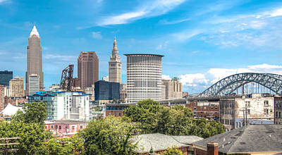 The Cleveland Skyline Art Print by Brent Durken