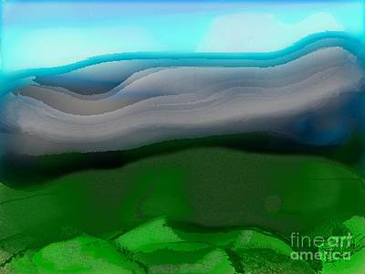 The Hilltop View Art Print