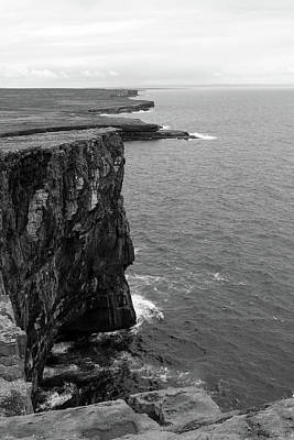 Photograph - The Cliffs At Dun Aengus by Aidan Moran