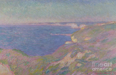 Edge Painting - The Cliffs Near Dieppe by Claude Monet