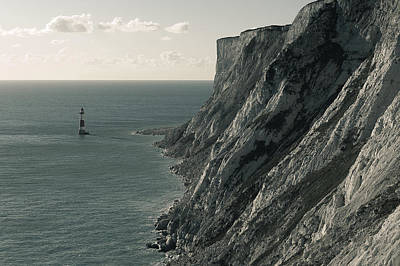 The Cliffs Of Beachy Head And The Lighthouse Art Print by Luka Matijevec