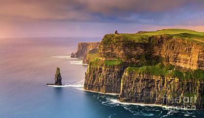 Burren Photograph - The Cliffs Of Moher - Ireland by Henk Meijer Photography