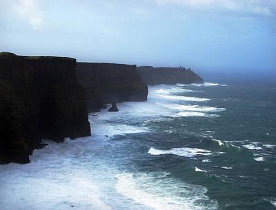 The Cliffs Of Mohr Ireland Art Print by Richard Singleton